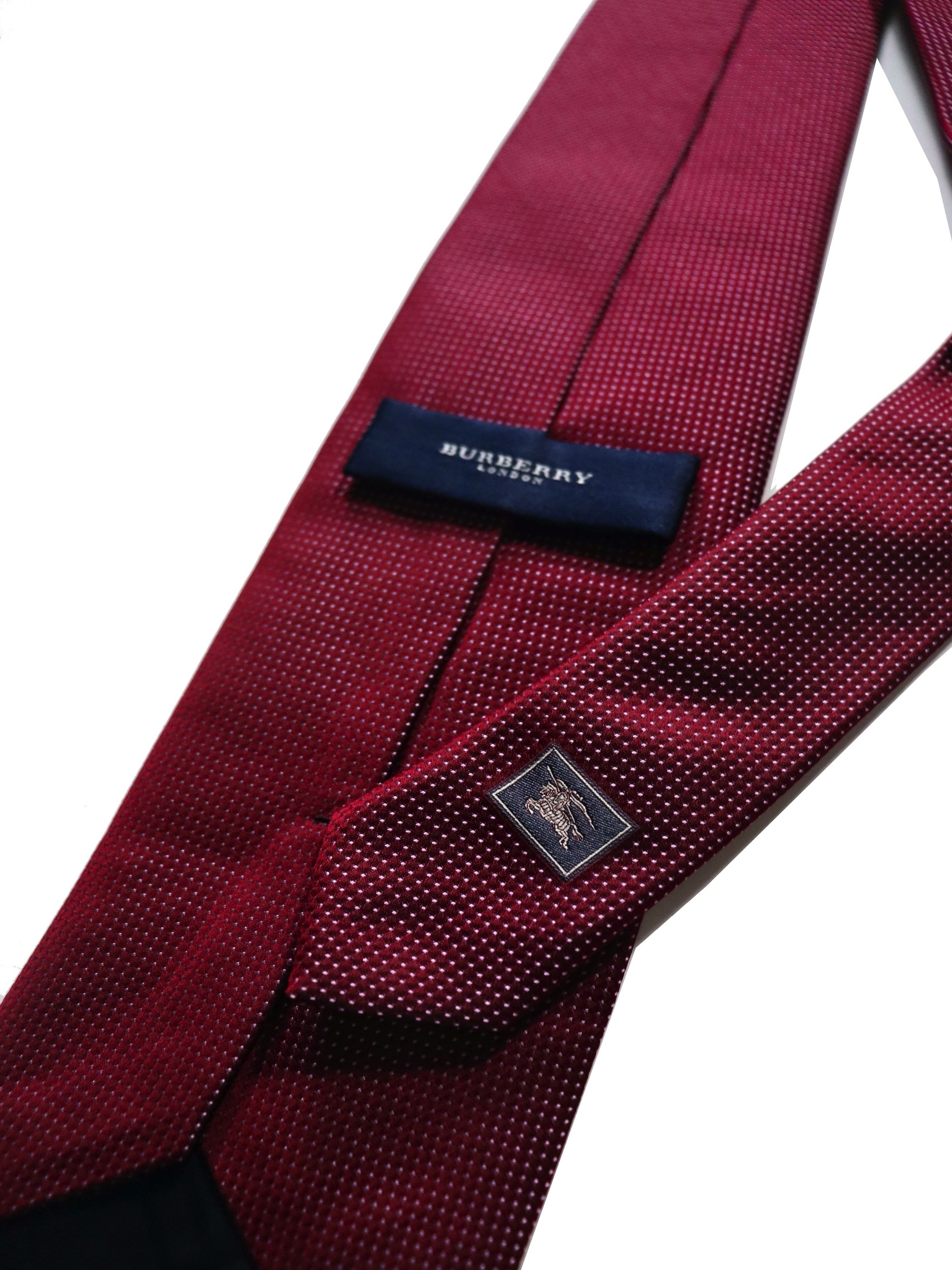 BURBERRY LONDON Silk Dot Tie / Made in Italy