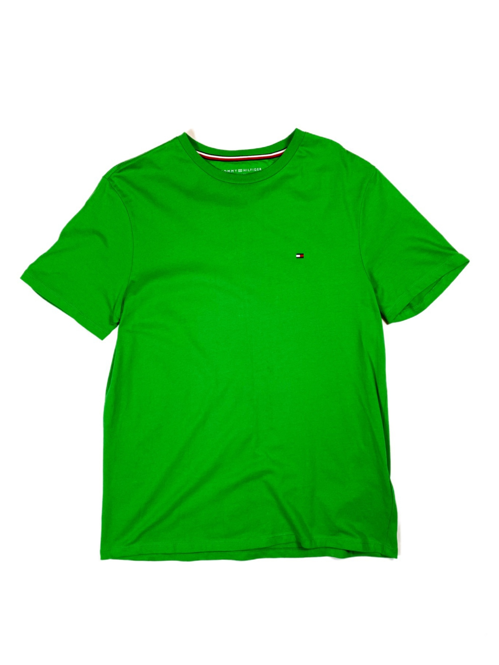 TOMMY HILFIGER one point tee(green)