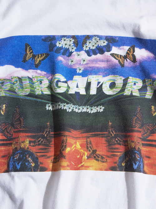 """1990s """"unknown"""" printed tee -WHITE-"""