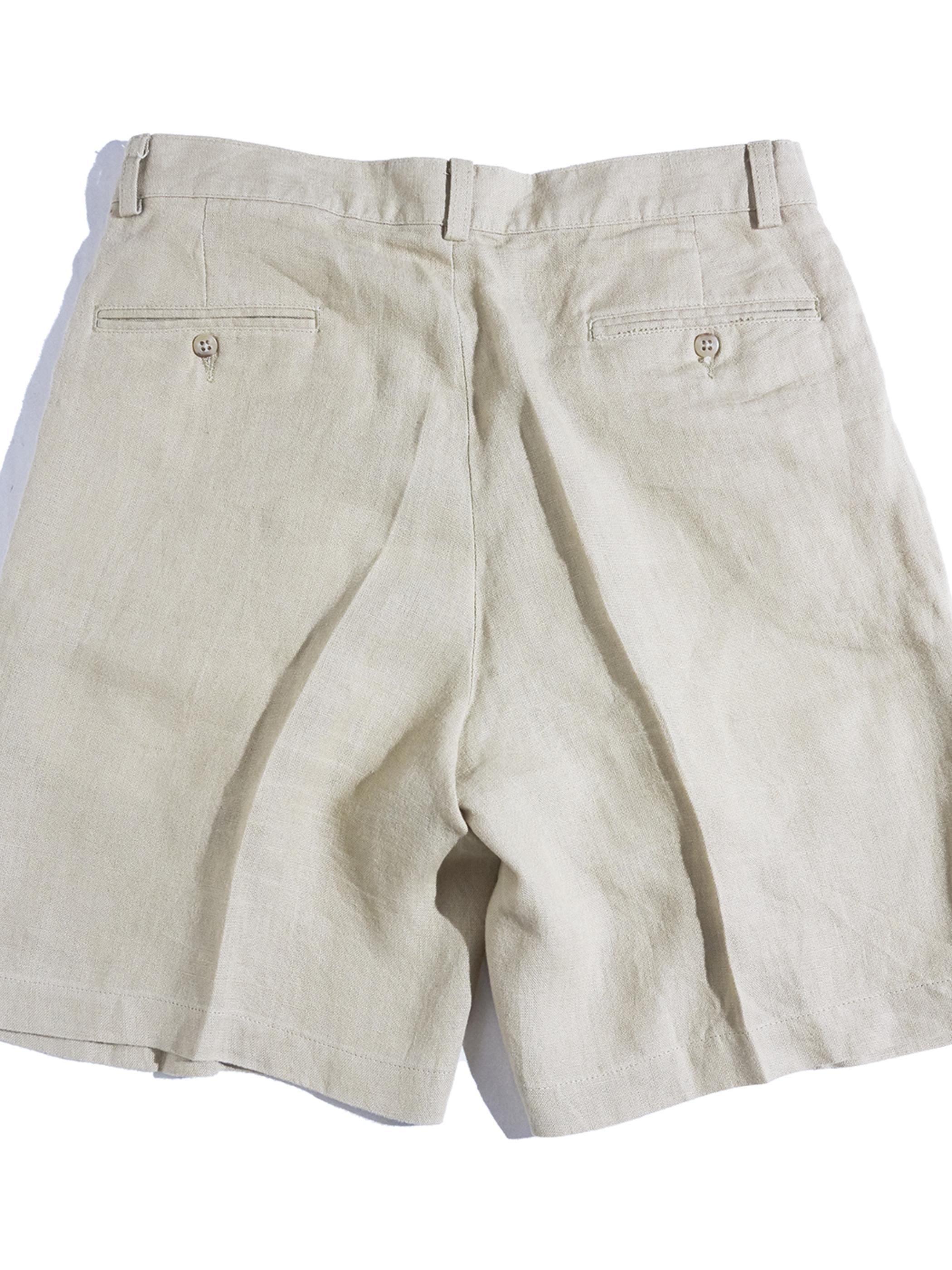 "1980s ""POLO by Ralph Lauren"" linen tuck shorts -BEIGE-"