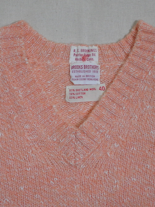 BROOKS BROTHERS 1970's Sweater Size40