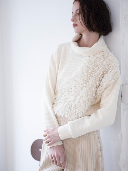 Yo19a14   fur rib knit pullover12