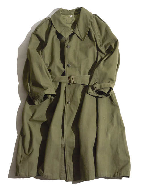 """1940s """"FRENCH ARMY"""" mortorcycle coat -OLIVE-"""