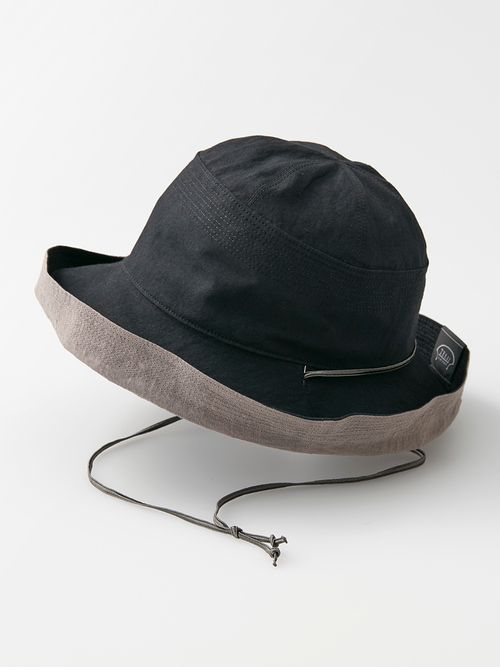 Reversible hat black omote 050 re