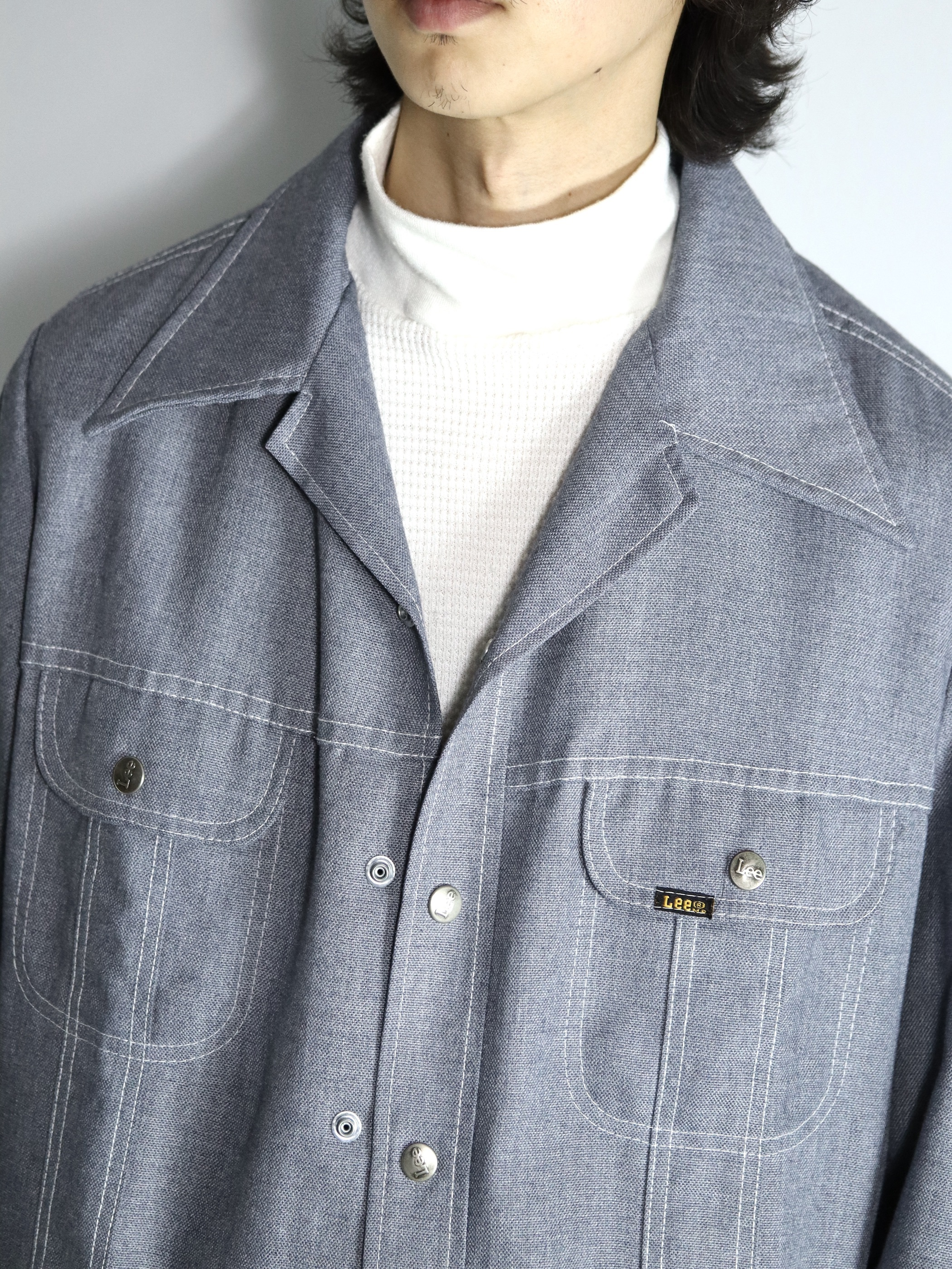 1970's Lee Polyester × Cotton Shirts Jacket