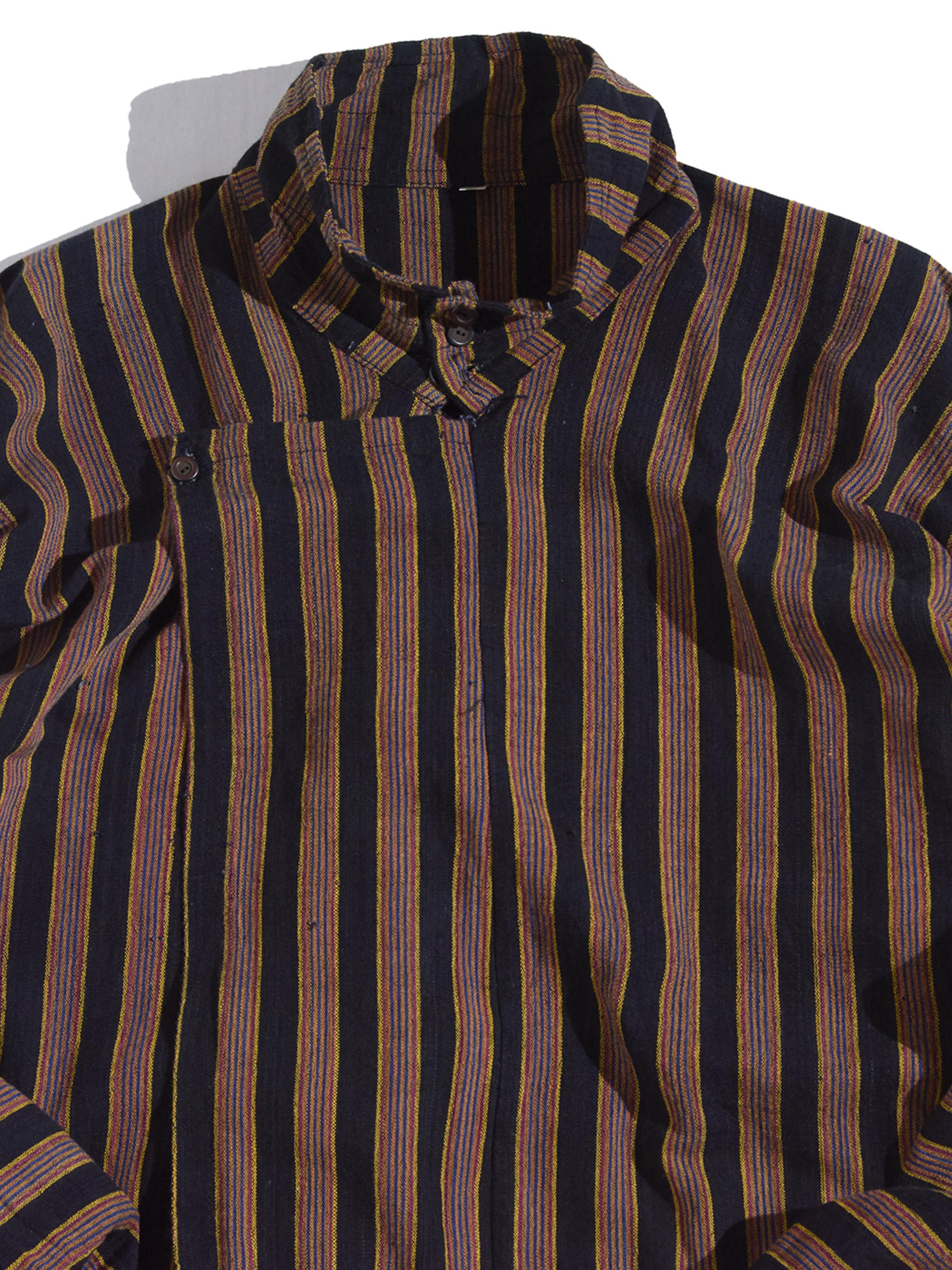 "1980s ""unknown"" stripe haori jacket -BROWN-"