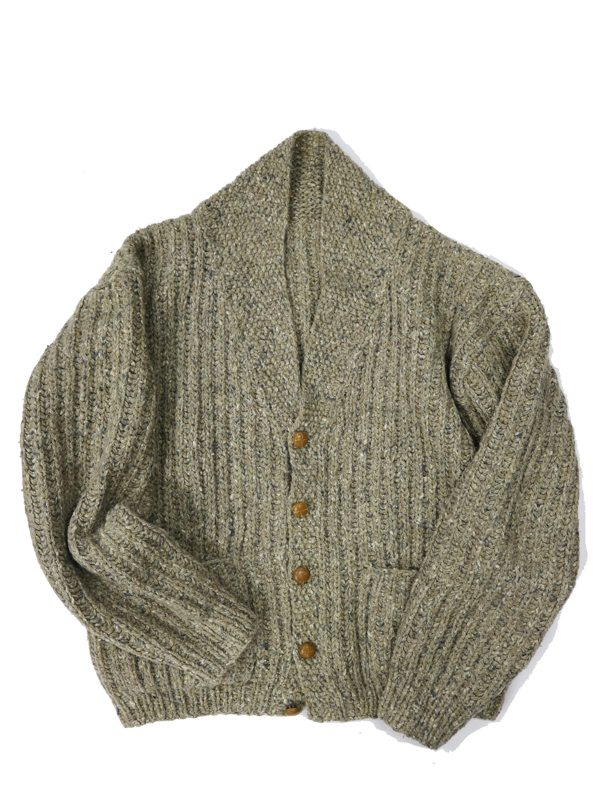 UnKnown Old Shawl collar Nep Knit Cardigan