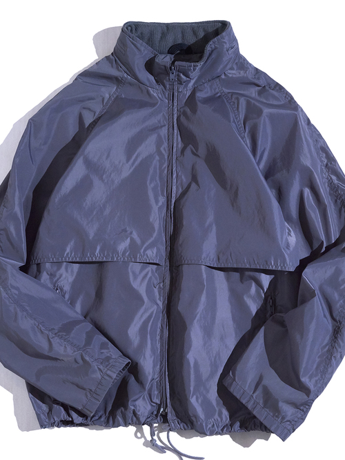 "1980s ""Eddie Bauer"" nylon hooded jacket -GRAY-"
