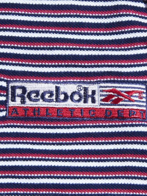 "1990s ""Reebok"" border polo shirt -RED-"