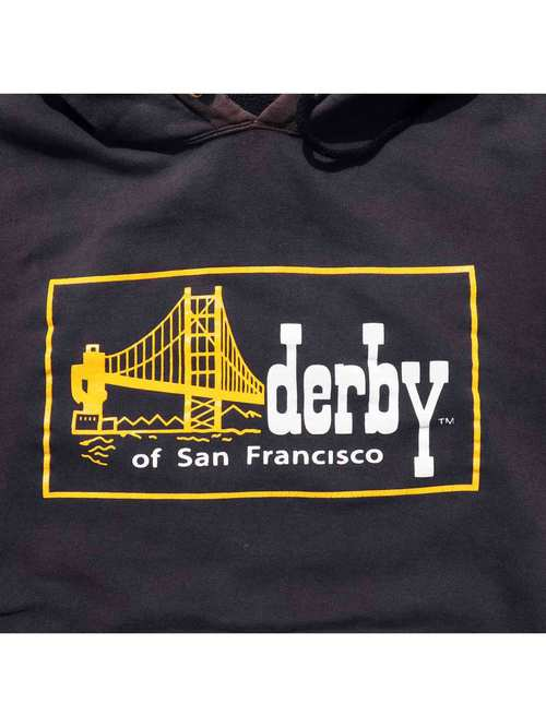 90's DERBY OF SAN FRANCISCO ロゴプリントパーカー [M]
