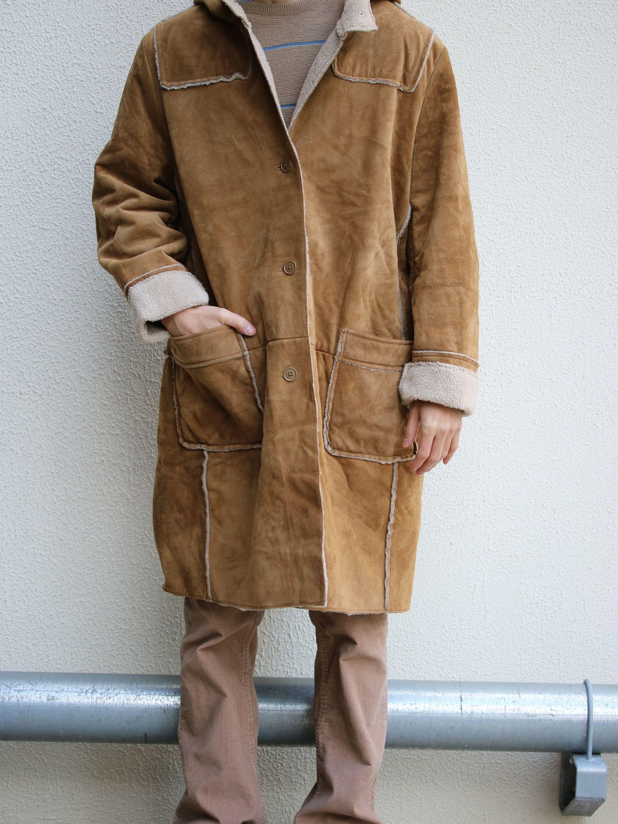Suede Boa coat