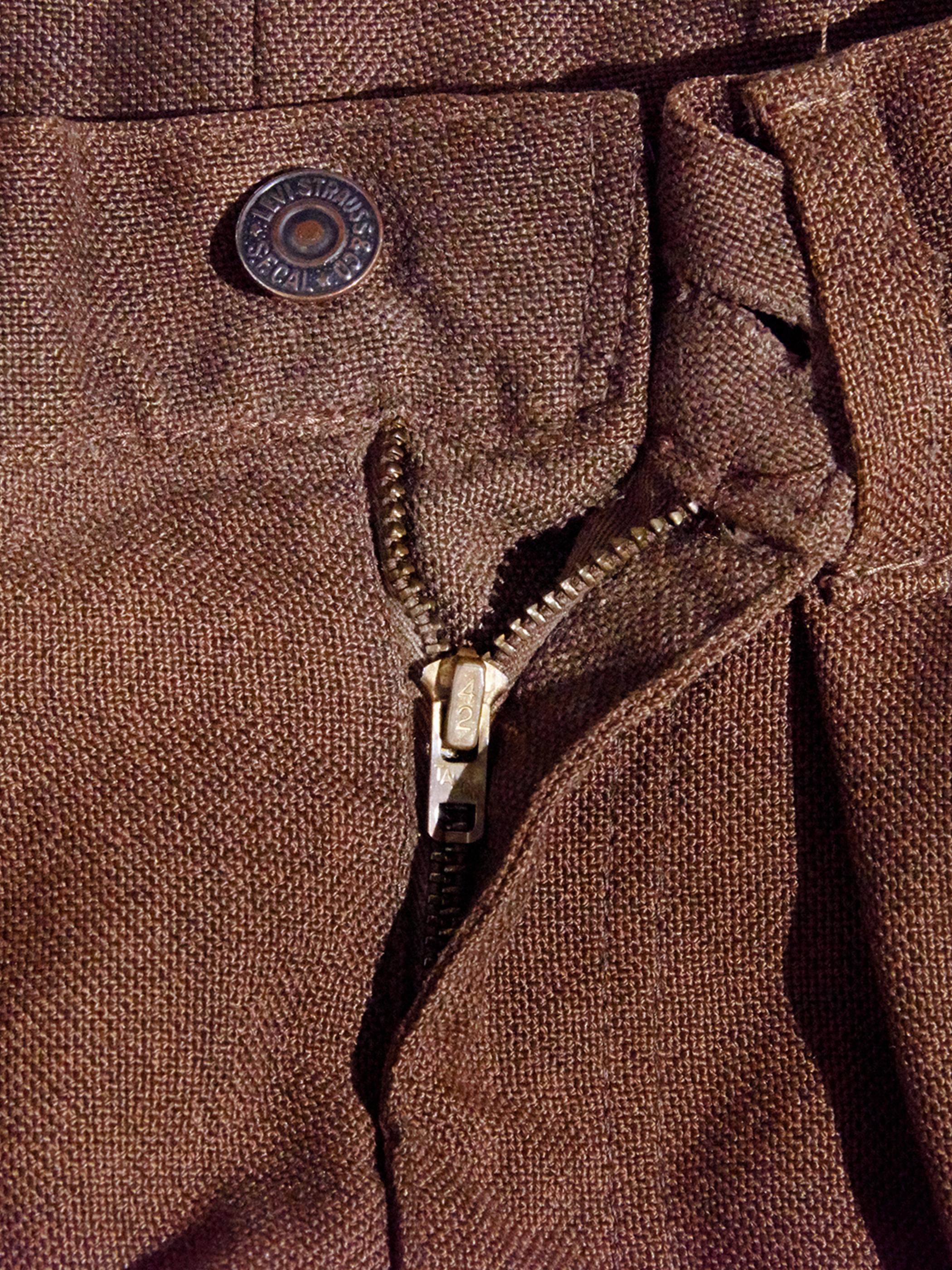 "1960s ""LEVIS"" STA-PREST custom tuck slacks -BROWN-"