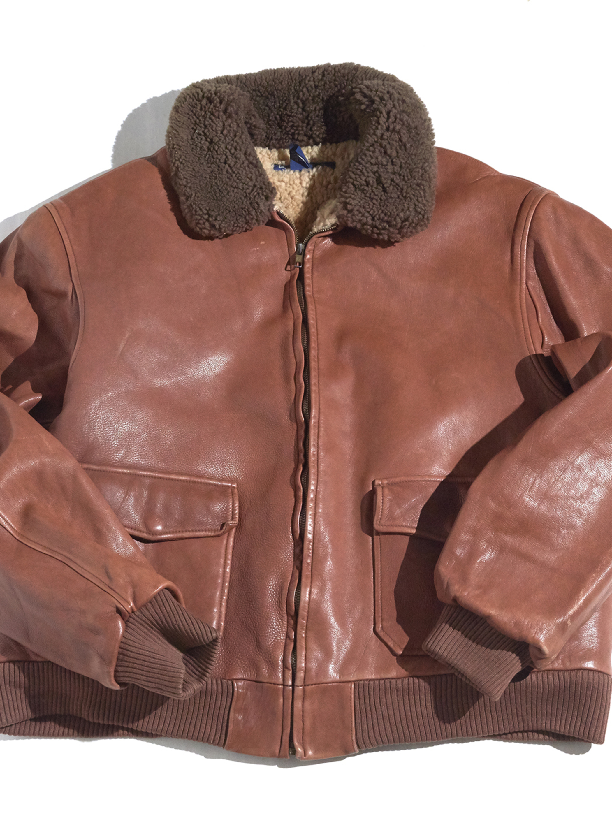 "1990s ""POLO by Ralph Lauren"" mouton jacket -BROWN-"