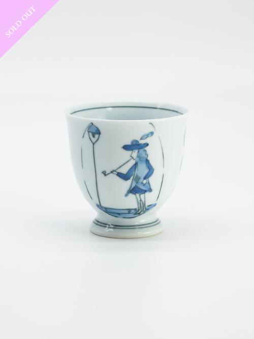 南蛮人 高台カップ【波佐見・松泉・Dead Stock】