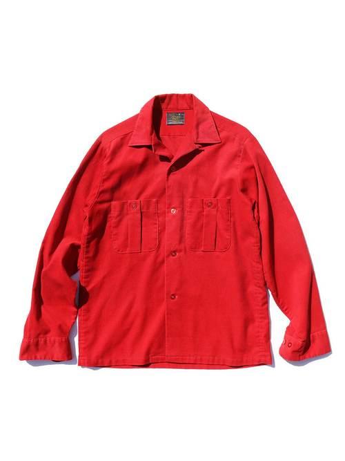 70's SEARS PERMA PREST オープンカラー コーデュロイシャツ [S]
