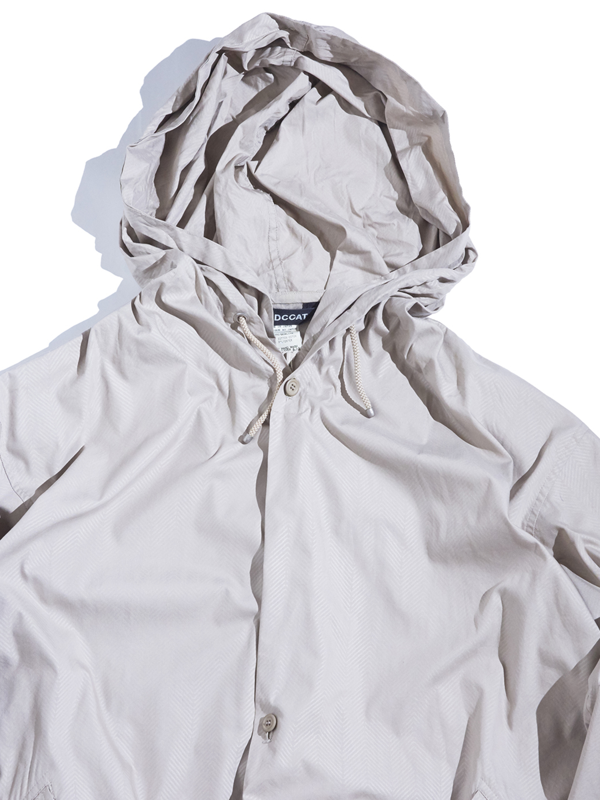 "2000s ""WIND COAT"" hooded shell jacket -BEIGE-"