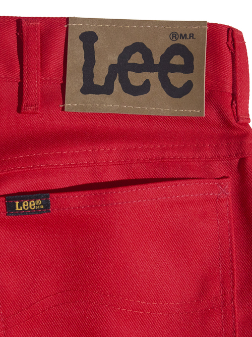 """NOS 1990s """"Lee"""" twill wrok shirt -RED-"""
