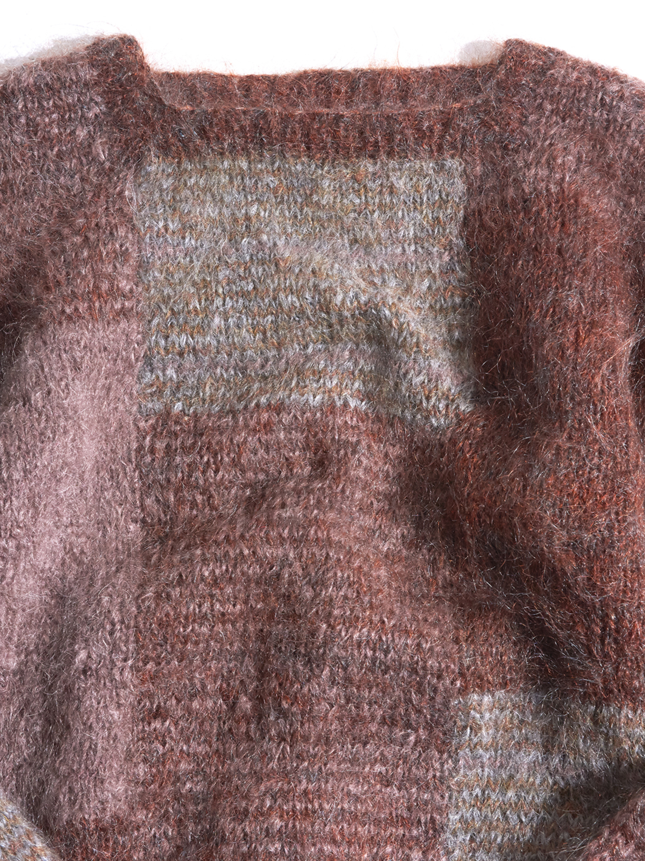"1980s ""unknown"" mohair knit -PANEL-"