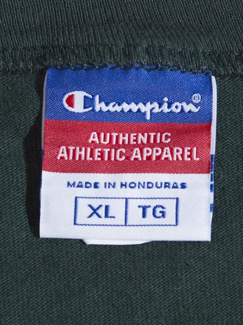 "1990s ""Champion"" print tee -GREEN-"