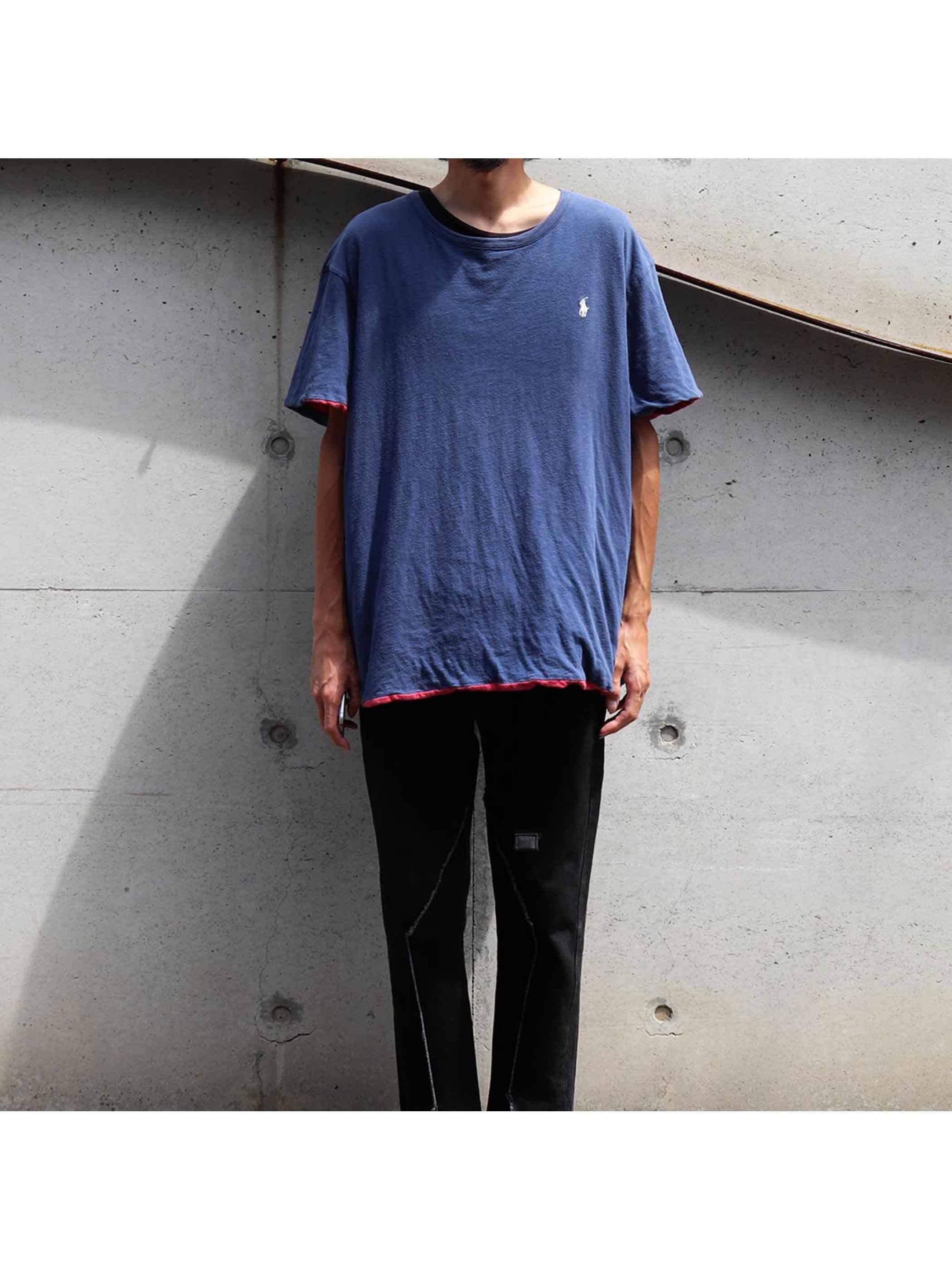00's~ POLO RALPH LAUREN リバーシブルTシャツ [About XL]