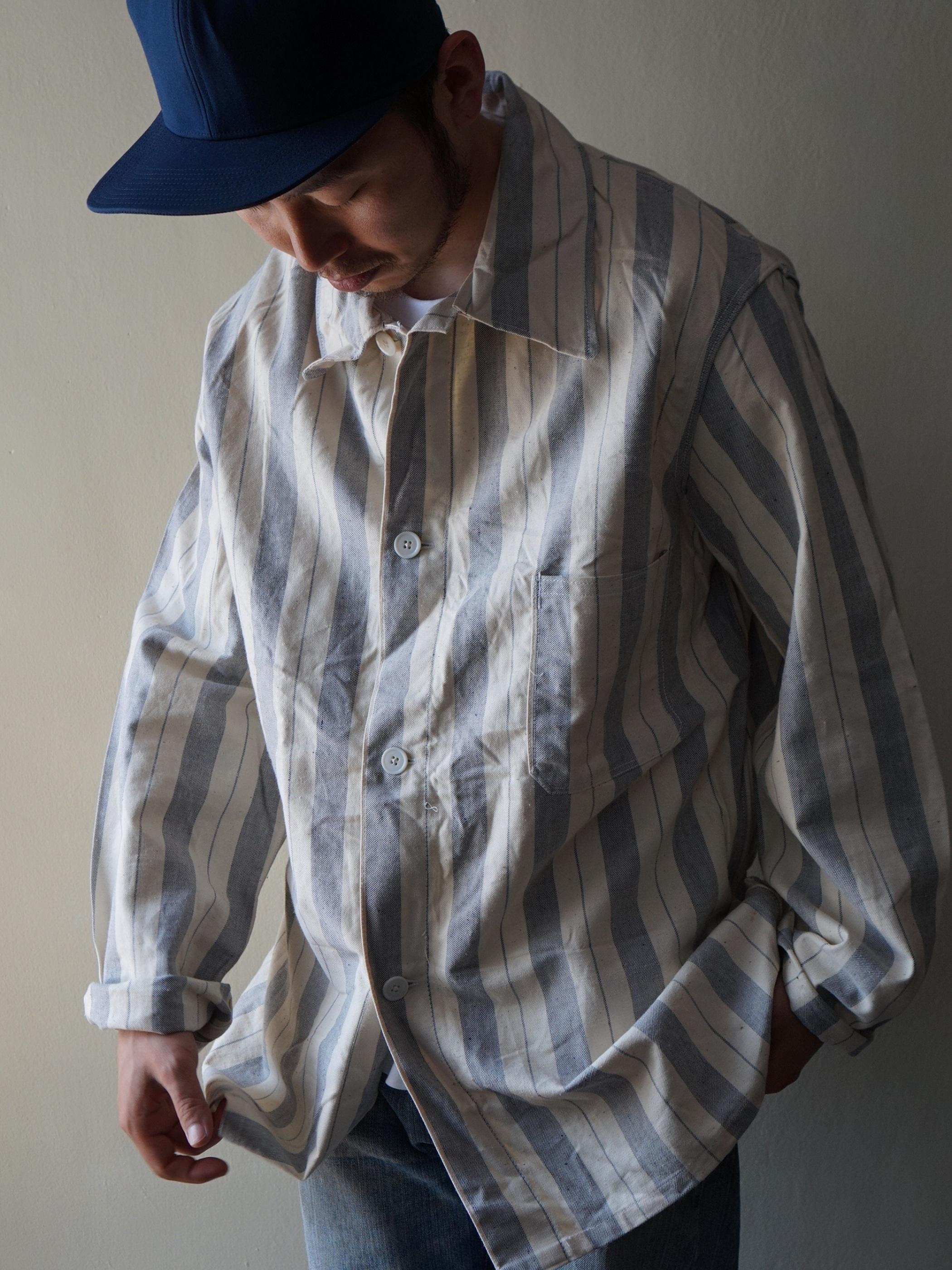 Dead stock 1970s British Prisoner stripe Shirts Jacket