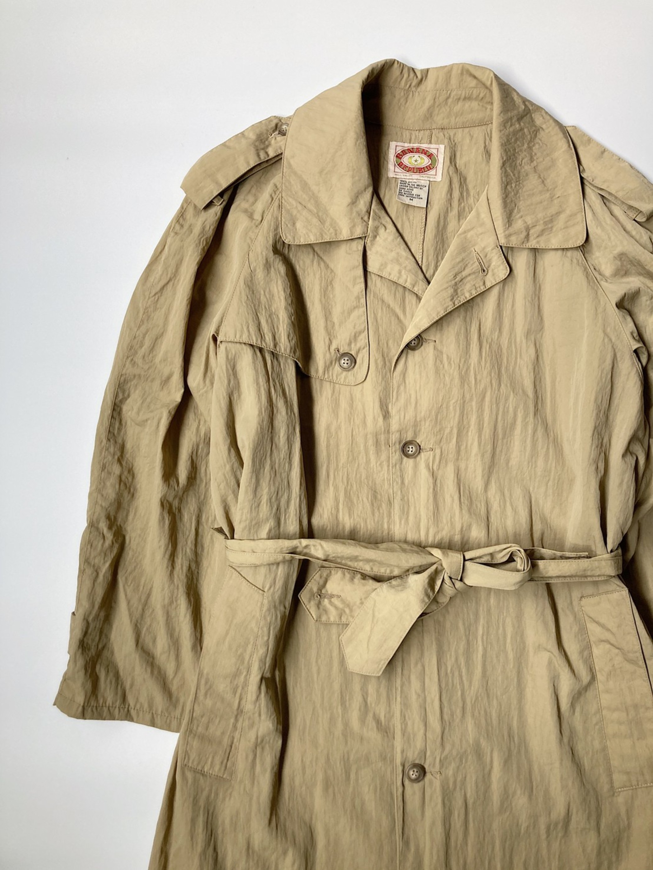 BANANA REPUBLIC nylon trench coat