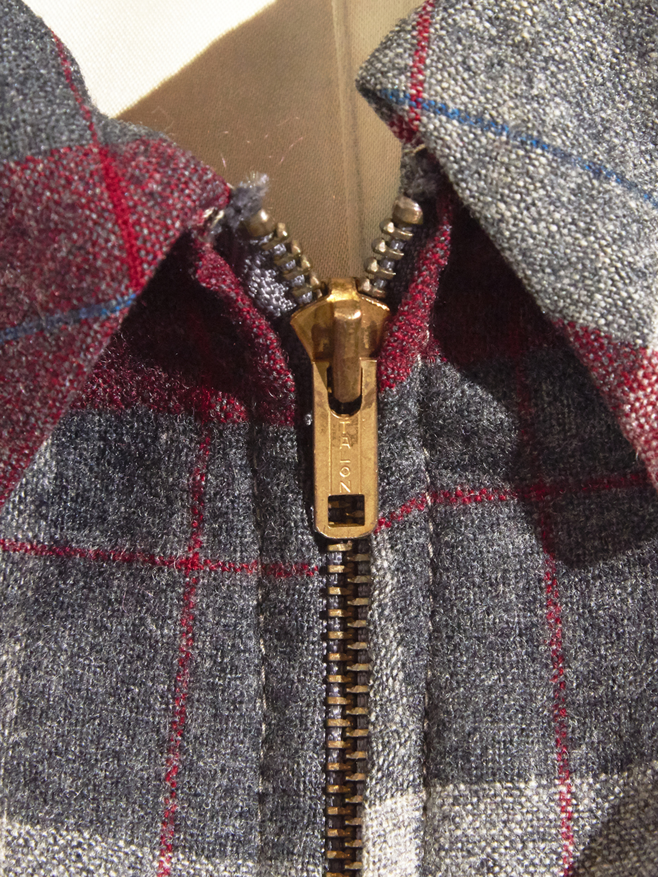 "1950s ""PENDLETON"" wool check blouson -RED-"