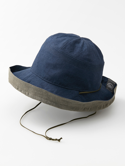 Reversible hat navy omote 014 re