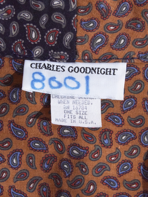 """1980s """"CHARLES GOODNIGHT"""" crazy paisley pattern gown -CRAZY-"""
