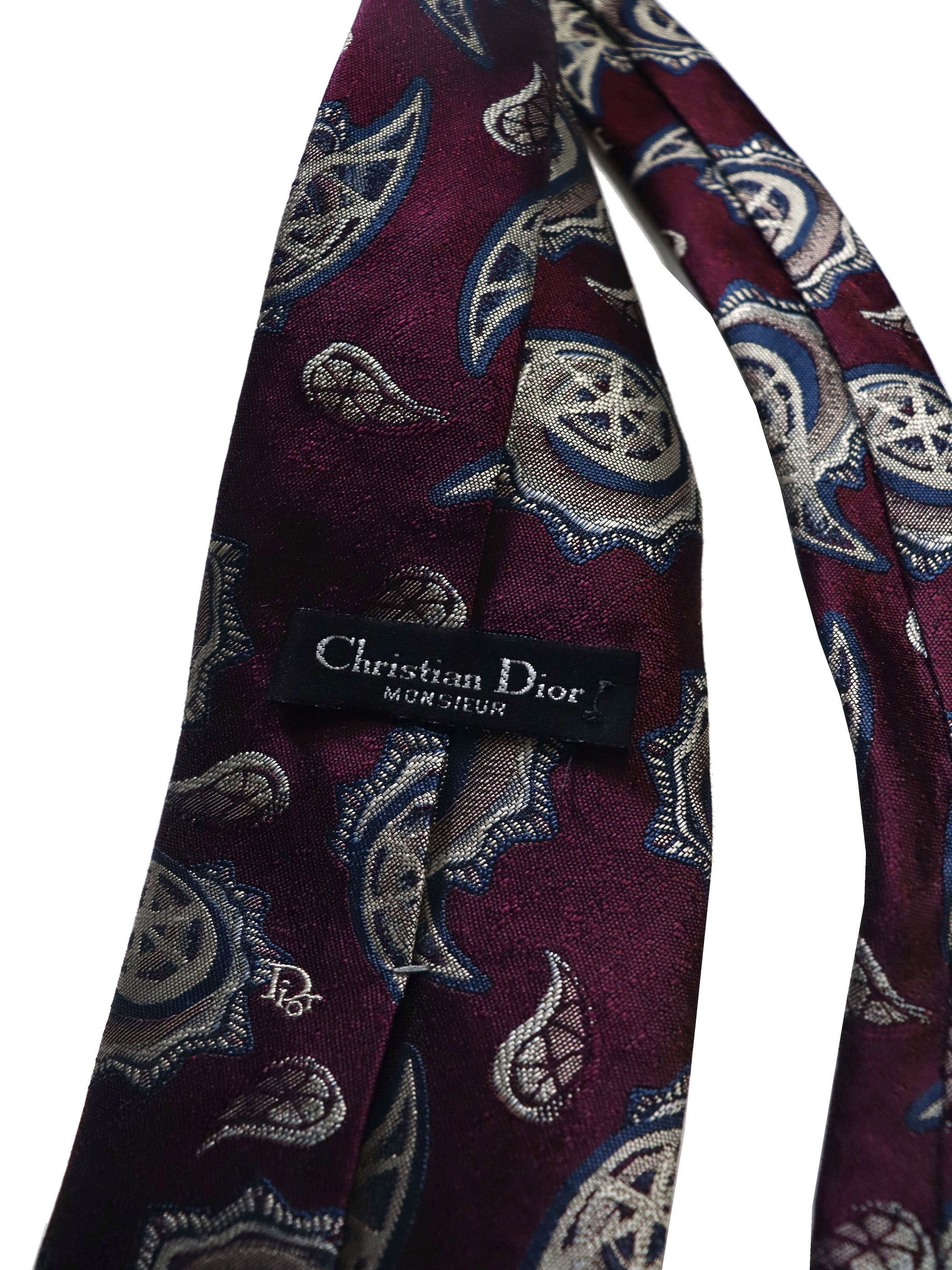 Christian Dior MONSIEUR Poly Silk Paisley Tie / Made in USA