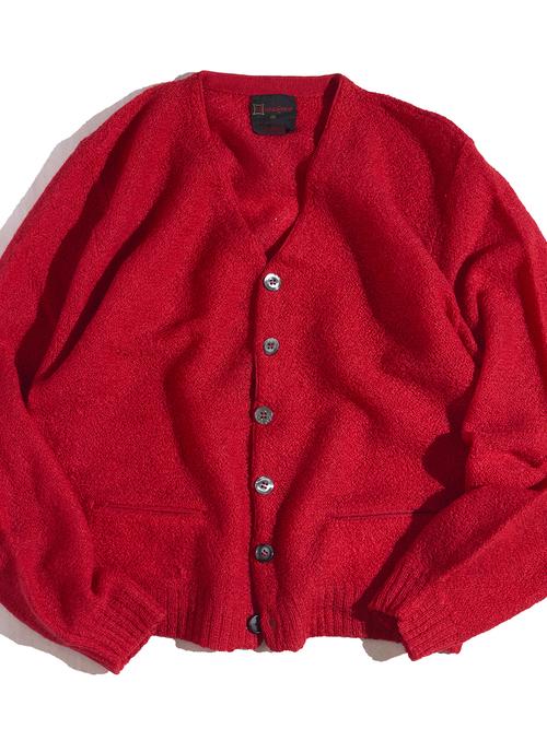 "1960s ""Munsingwear"" mohair knit cardigan -RED-"