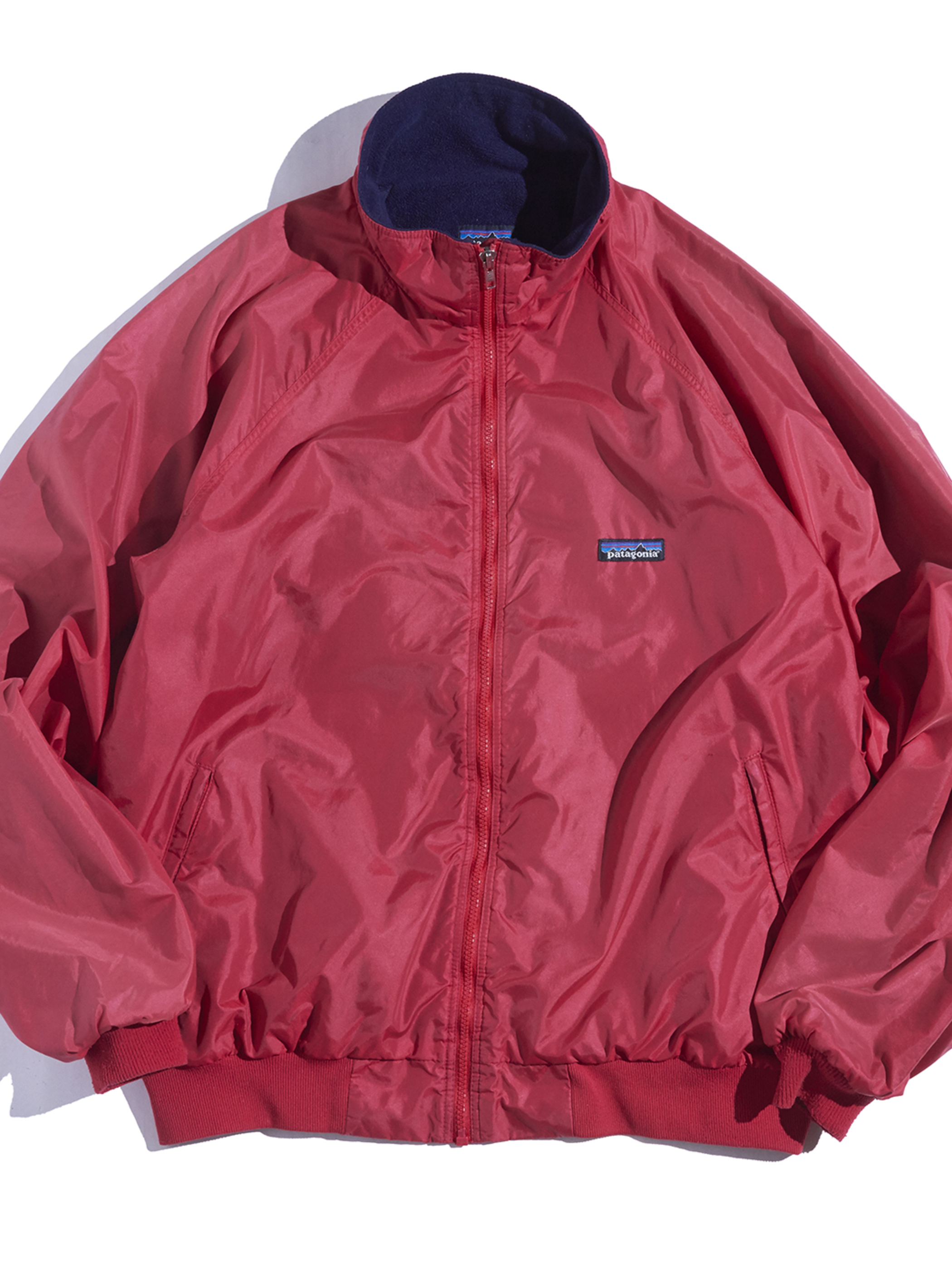 """1990s """"patagonia"""" shelled synchilla jacket -RED-"""