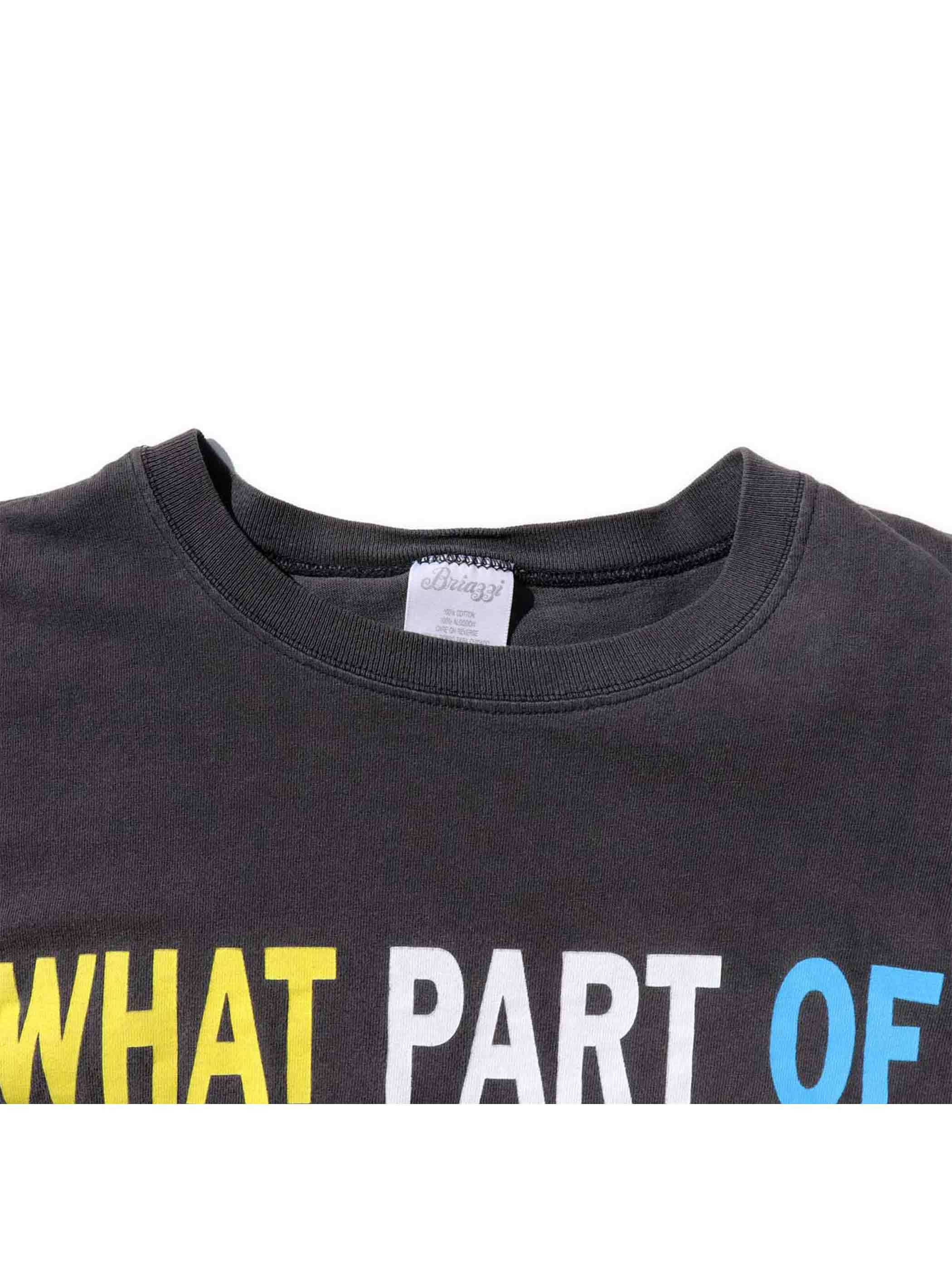 90's WHAT PART OF NO DON'T YOU UNDERSTAND? Tシャツ [FREE]