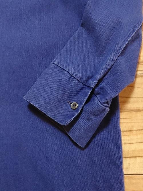 EURO Vtg / Pull over cotton work shirt