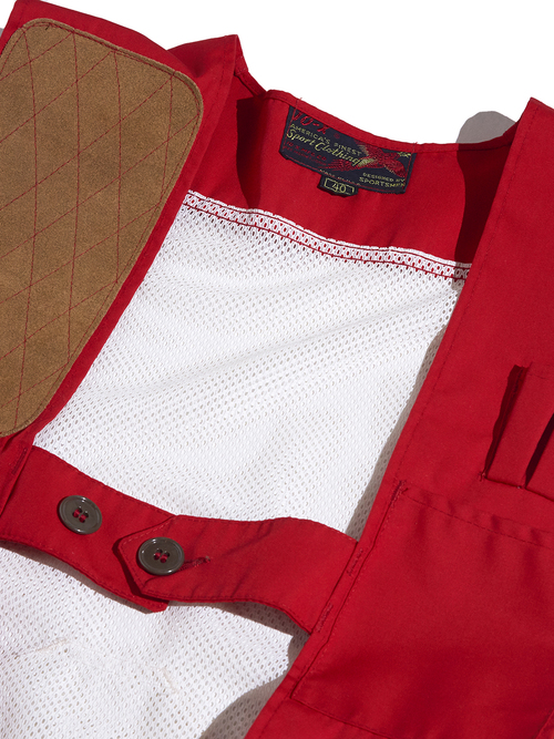 "1960s ""10-X"" shooting vest -RED-"