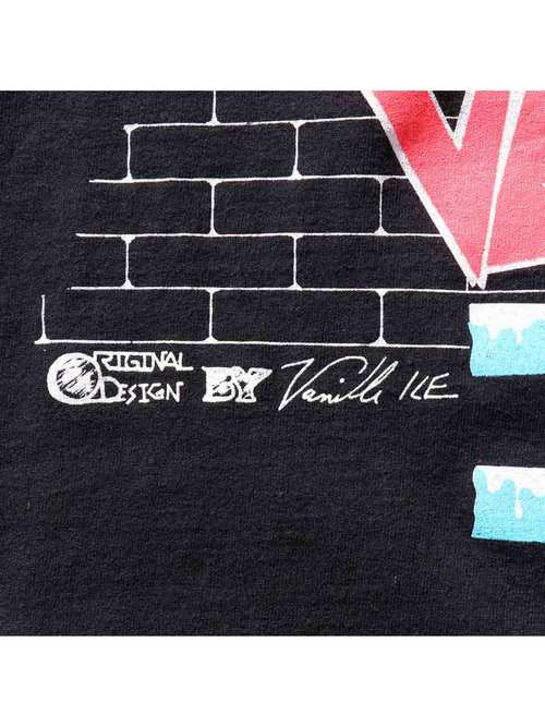 """90's VANILLA ICE """"TO THE EXTREME TOUR 1990-91"""" USA製 Tシャツ [L]"""