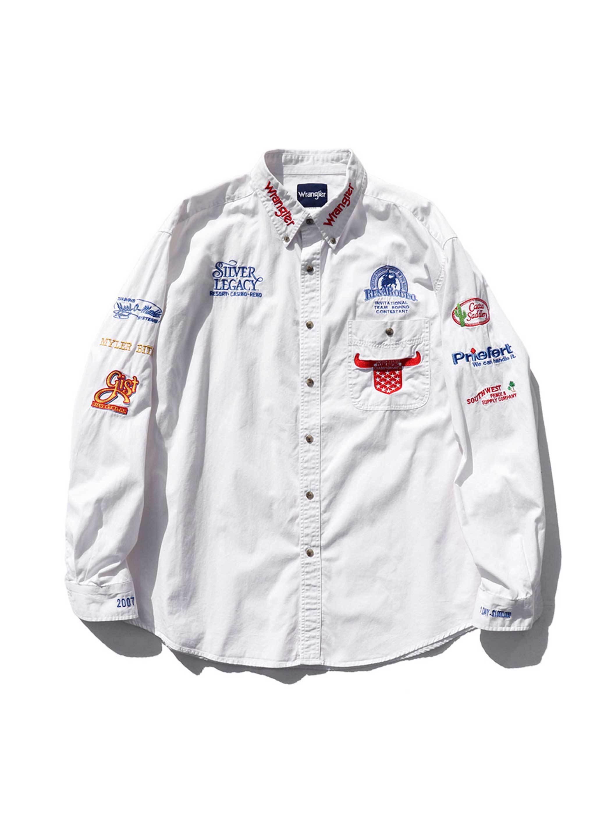 00's WRANGLER TEAM ROPING ロデオイベント L/Sシャツ [XL]
