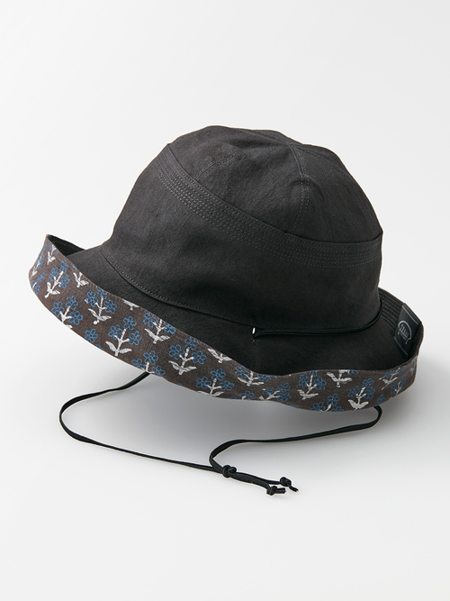 Reversible hat block p black omote 062 re