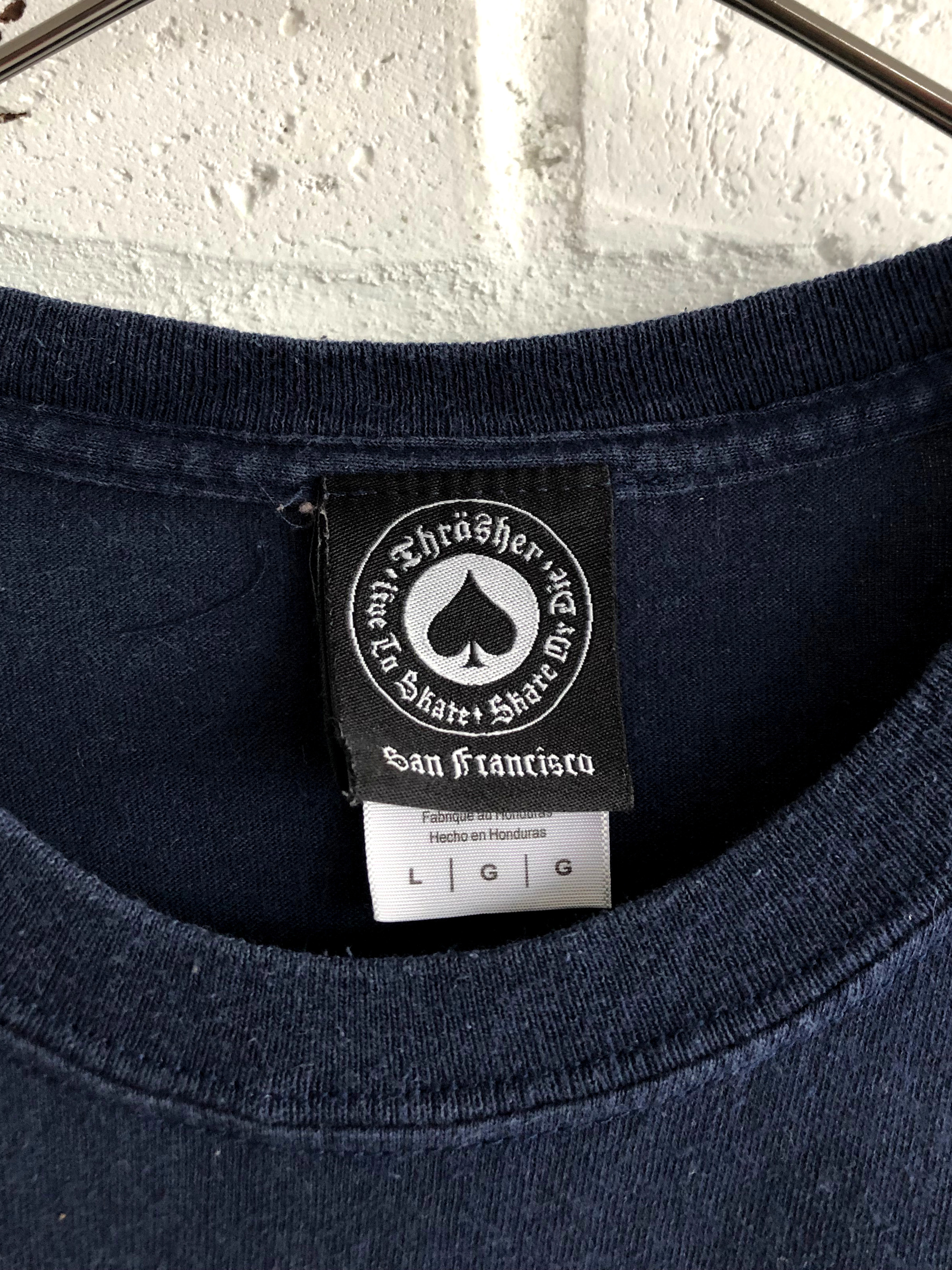 "THRASHER ""Fire Logo"" 00's T-shirt"