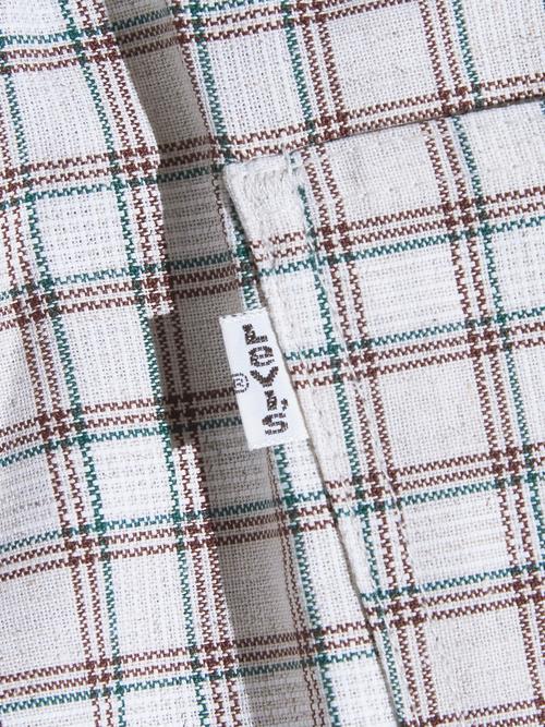 """NOS 1970s """"Levi's"""" flair check slacks -GREY-"""