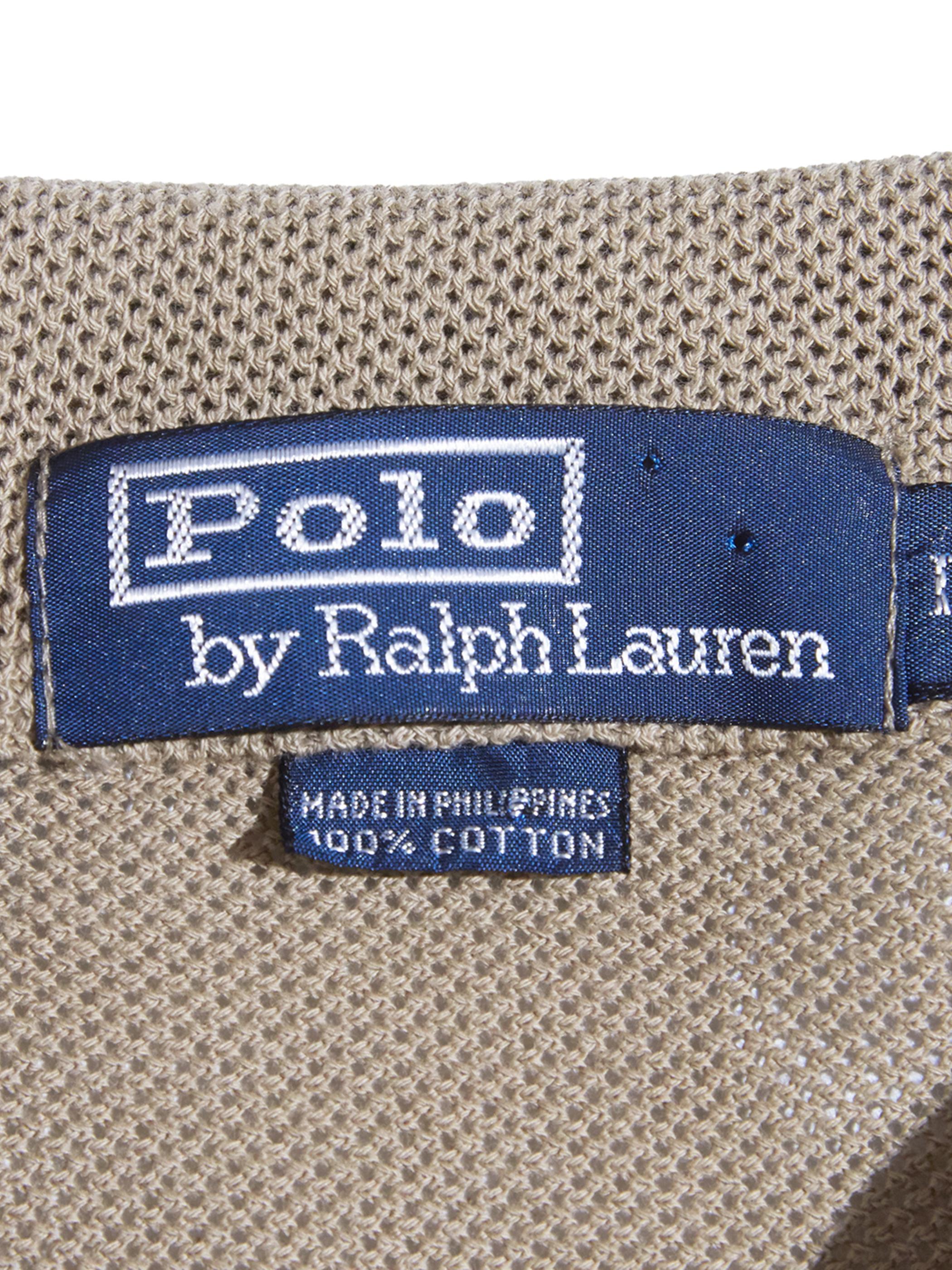 "1990s ""POLO by Ralph Lauren"" s/s knit shirt -BEIGE-"