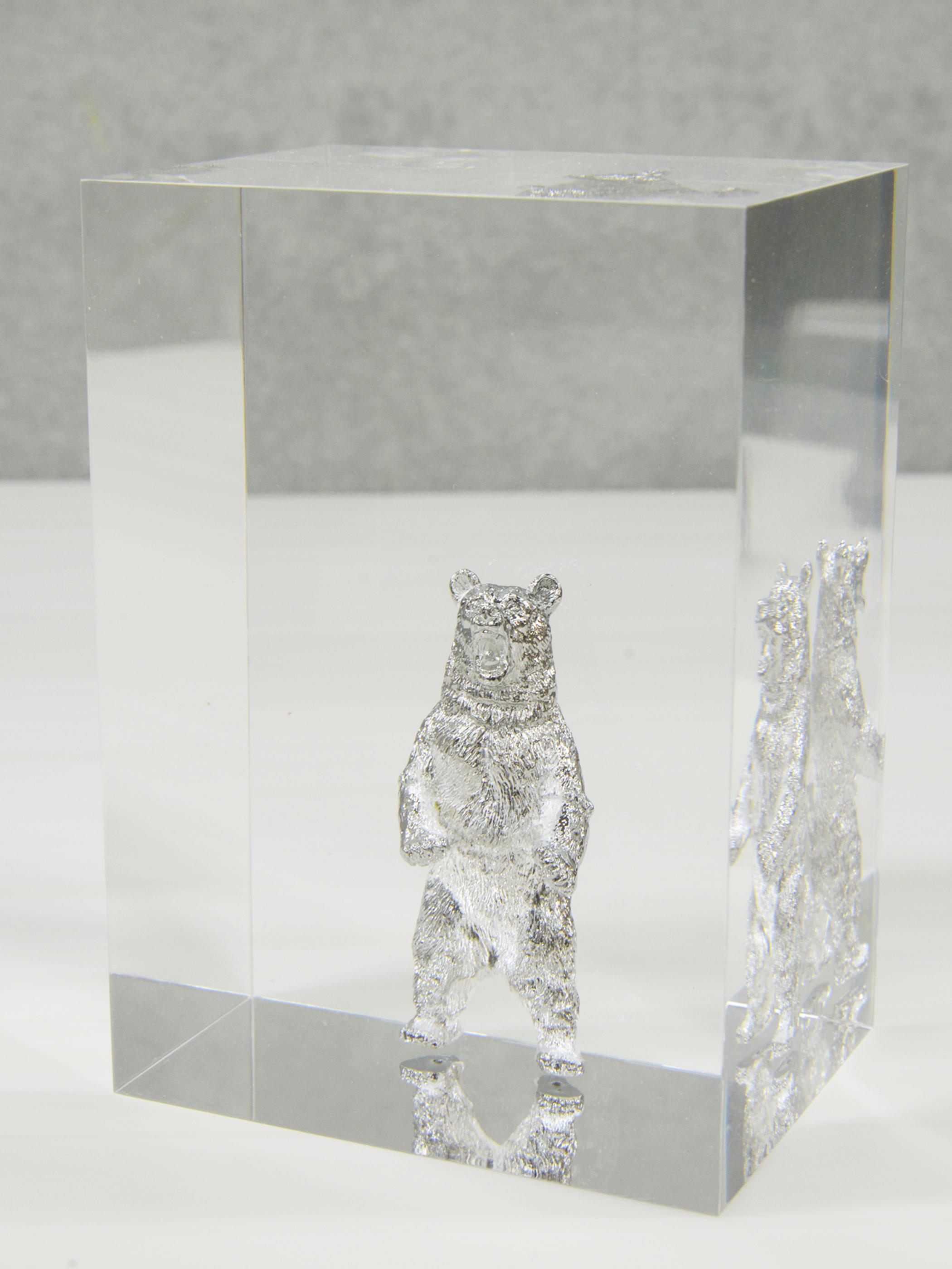 2018 exhibition ''moraltone'' acryl-bookend 【silver bear】