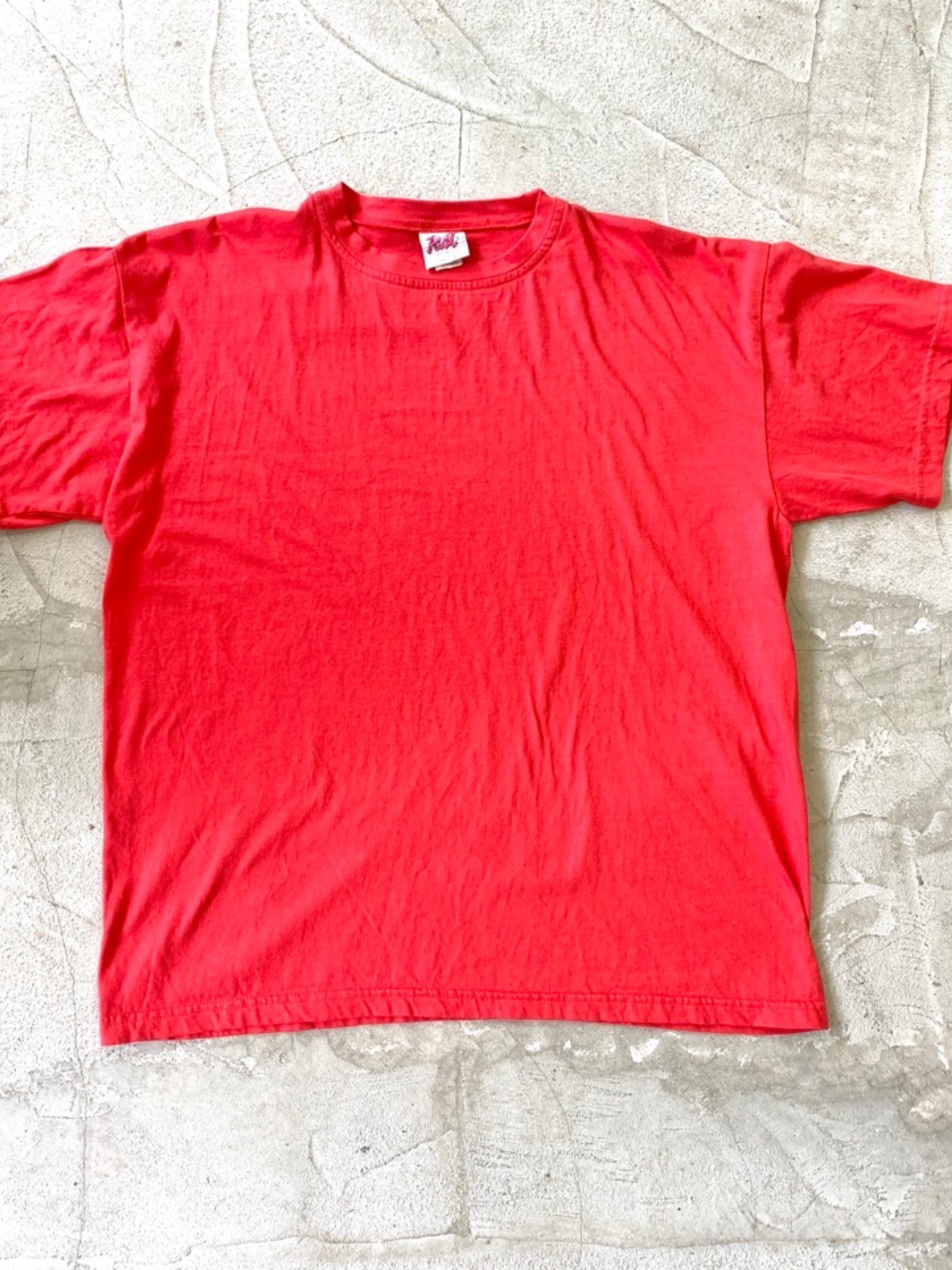 1980'〜 Dead stock over size t-shirt  Red color Made in USA
