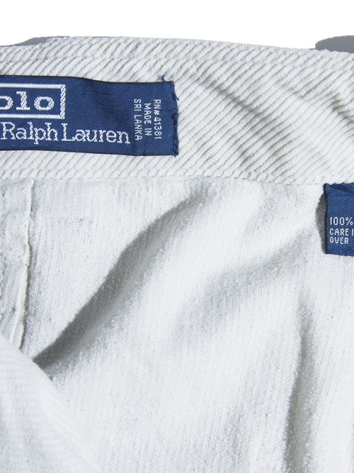 "1990s ""POLO by Ralph Lauren"" corduroy work pants -IVORY-"