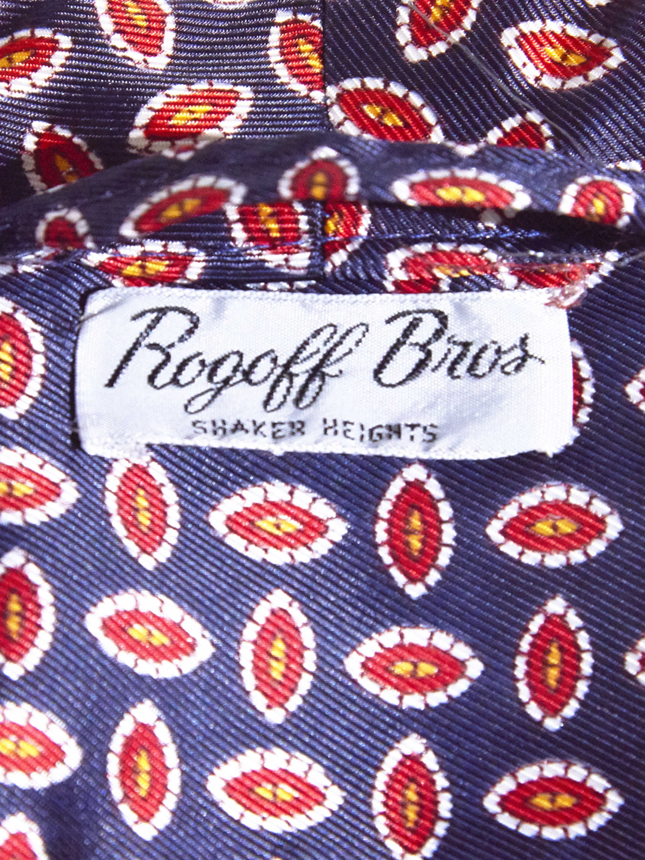 "1960s ""Rogoff bros"" acetate pattern gown -PURPLE- <SALE¥18000→¥14400>"