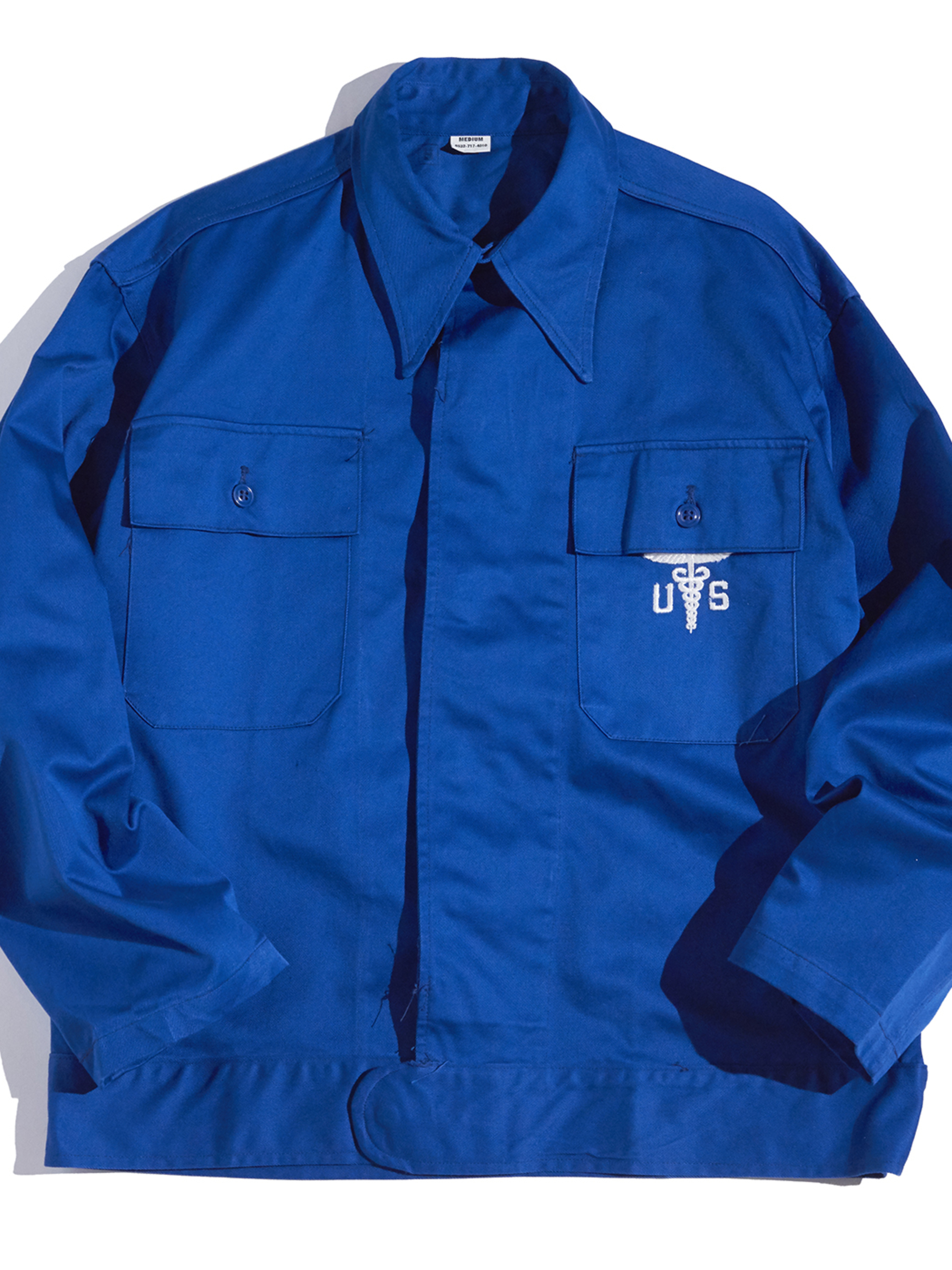 "1960s ""US ARMY"" medical jacket -BLUE-"