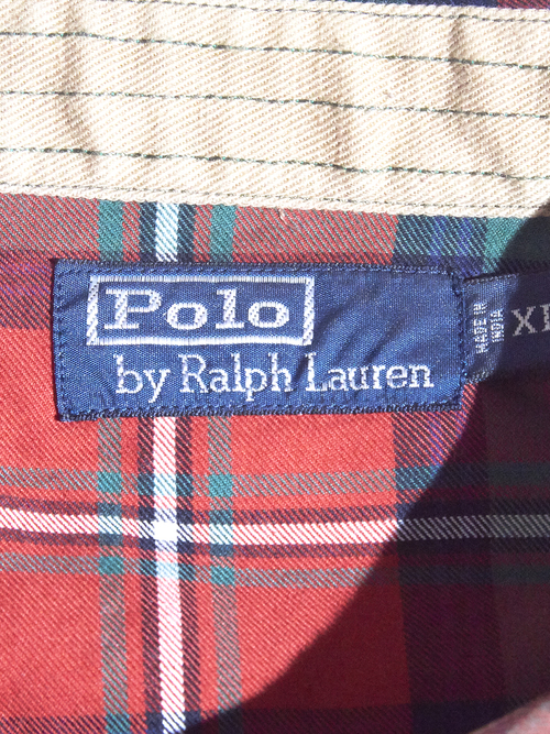 "2000s ""POLO by Ralph Lauren"" shooting check shirt -RED- <SALE¥8000→¥6000>"