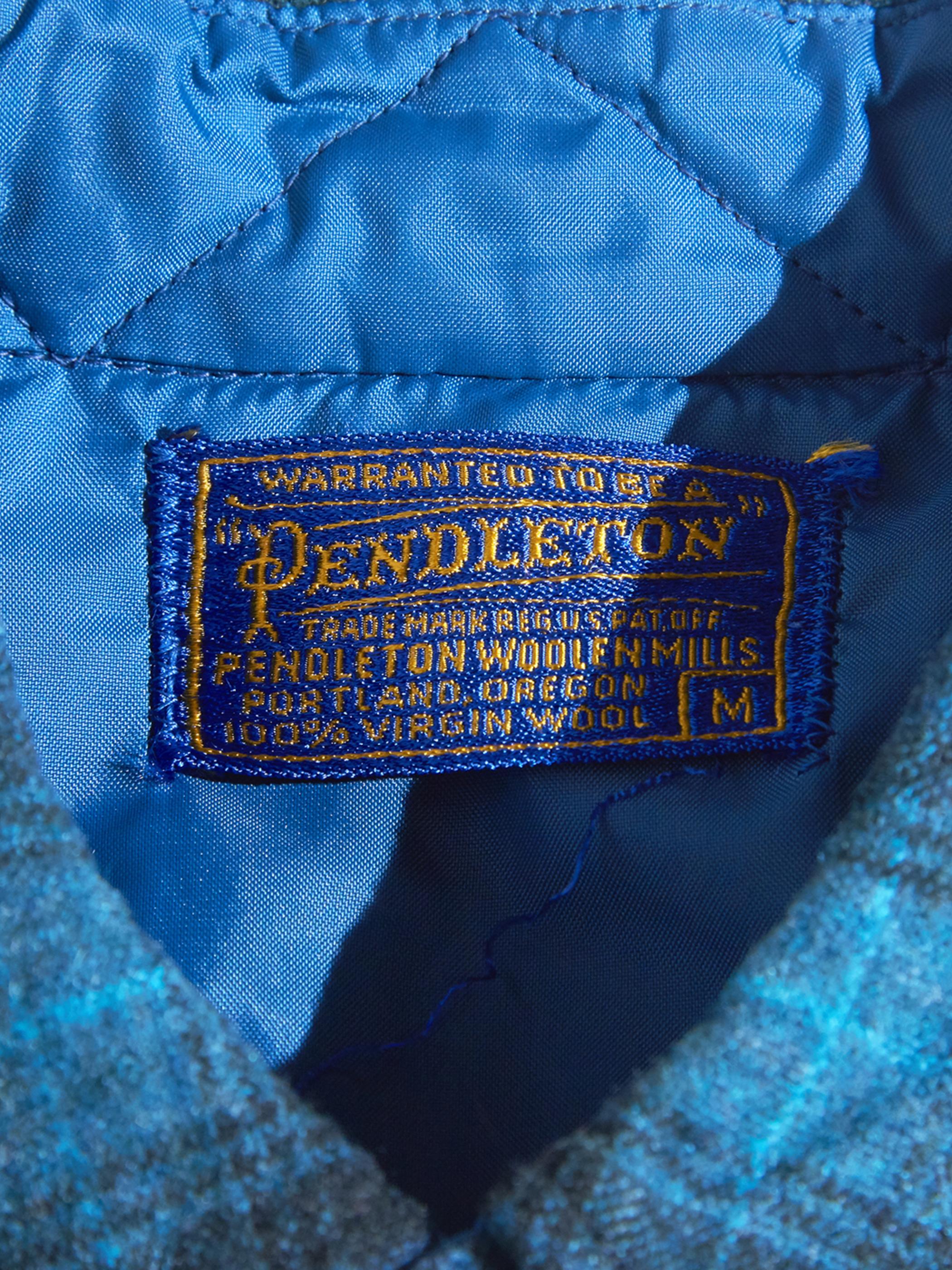 """1960s """"PENDLETON"""" wool check shirt -BLUE- <SALE¥9000→¥7200>"""