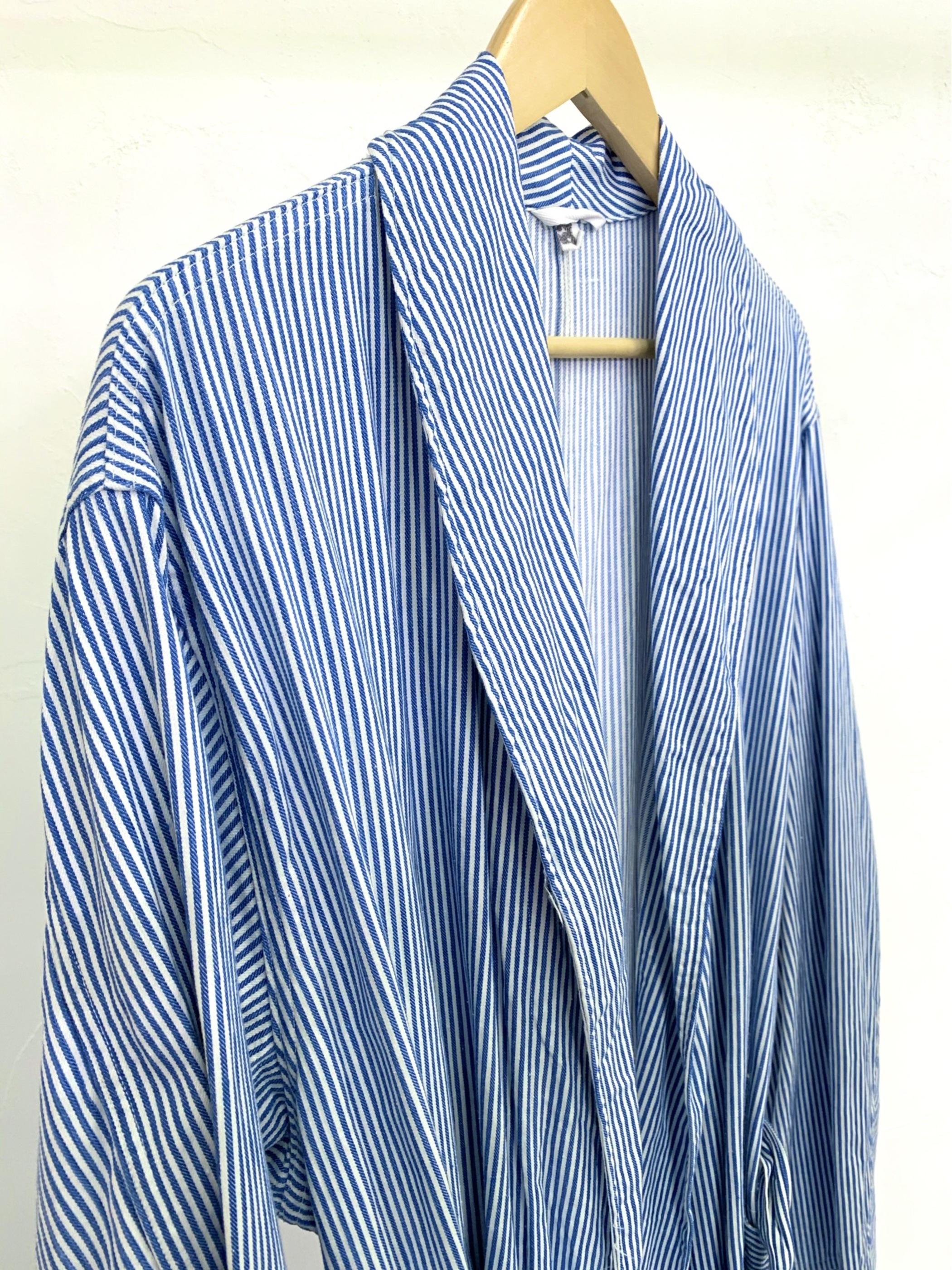 1970's〜 Czech military stripe cotton gown